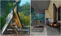 Архитектура: Проект лесной хижины, крыша которой в дождливую погоду образует водопад