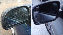 Лайфхак: Элементарный способ, чтобы автомобильные зеркала не покрывались каплями дождя и льдом