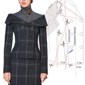 Моделируем и шьем приталенный жакет от модного дома Dior