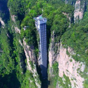 Байлонг — самый высокий открытый лифт в мире