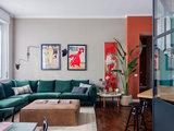 Houzz Италия: Цветная квартира, вдохновленная Ле Корбюзье (13 photos)