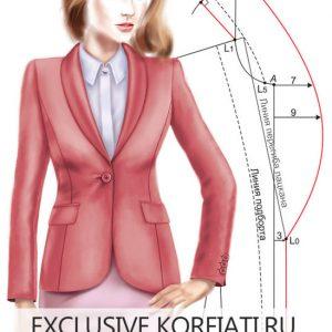 Женственный стиль: строим выкройку воротника-шалька