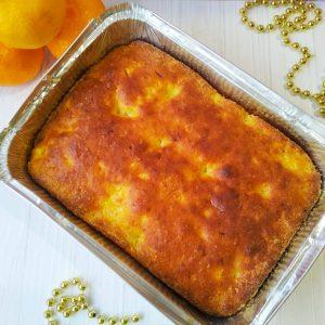 Легкий творожный кекс (запеканка) с мандаринами (без муки)!