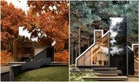 Архитектура: Концепции домов от российского архитектора, удачно интегрированные в природный ландшафт