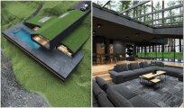 Архитектура: «Черная вилла» – концепт стильного загородного особняка с «живой» крышей