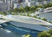 Архитектура: Скоро парижане смогут выращивать овощи и фрукты прямо на пешеходном мосту
