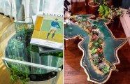 Идеи вашего дома: «Цветущие» столы: оригинальный способ вписать суккуленты в интерьер