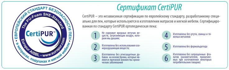 Сертификат качества на матрас из ППУ