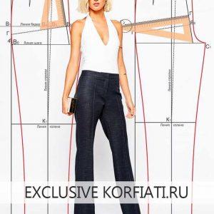 Идеальная выкройка женских брюк — пошаговое построение
