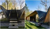 Архитектура: Эффектная реконструкция сгоревшего гостевого дома, который стал похож на арт-объект
