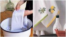 Лайфхак: Зачем добавлять растительное масло при стирке кухонных полотенец