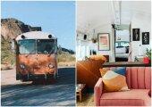 Архитектура: Подруги приобрели старый автобус и превратили его в комфортабельный дом