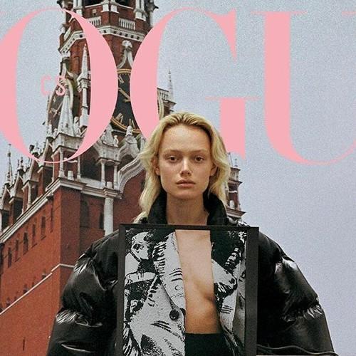 Новая обложка Vogue Czechoslovakia с Симоной Куст снята на фоне Кремля