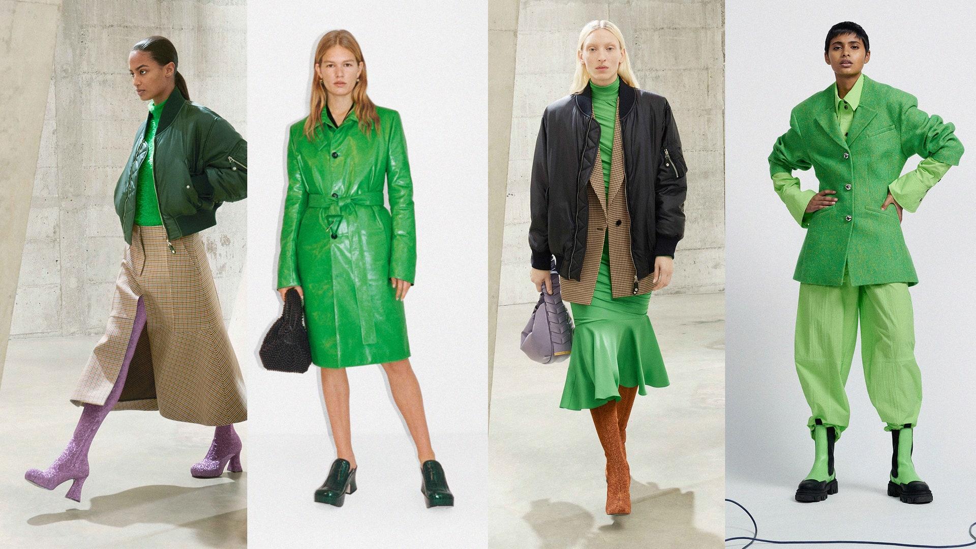 Зеленый — главный цвет осени 2021. Вот как мы будем носить его ближайшие три месяца